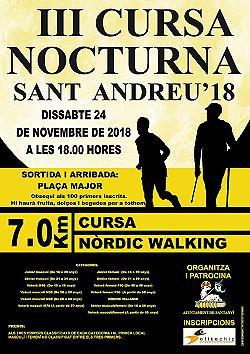 III Cursa Nocturna Sant Andreu Santanyi 2018